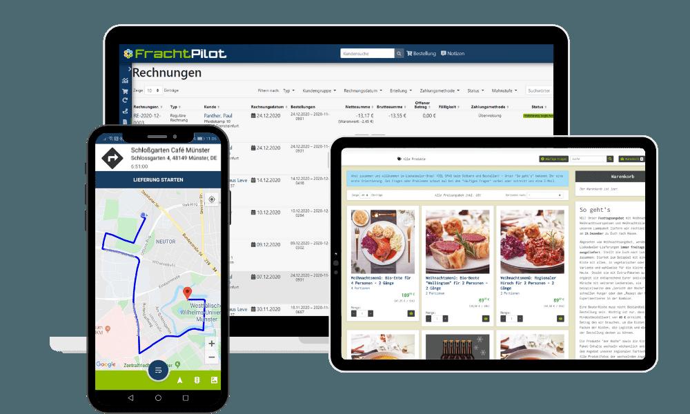 FrachtPilot Funktionen Module Regionale Direktvermarktung Lebensmittel Vermarktung Lieferservice