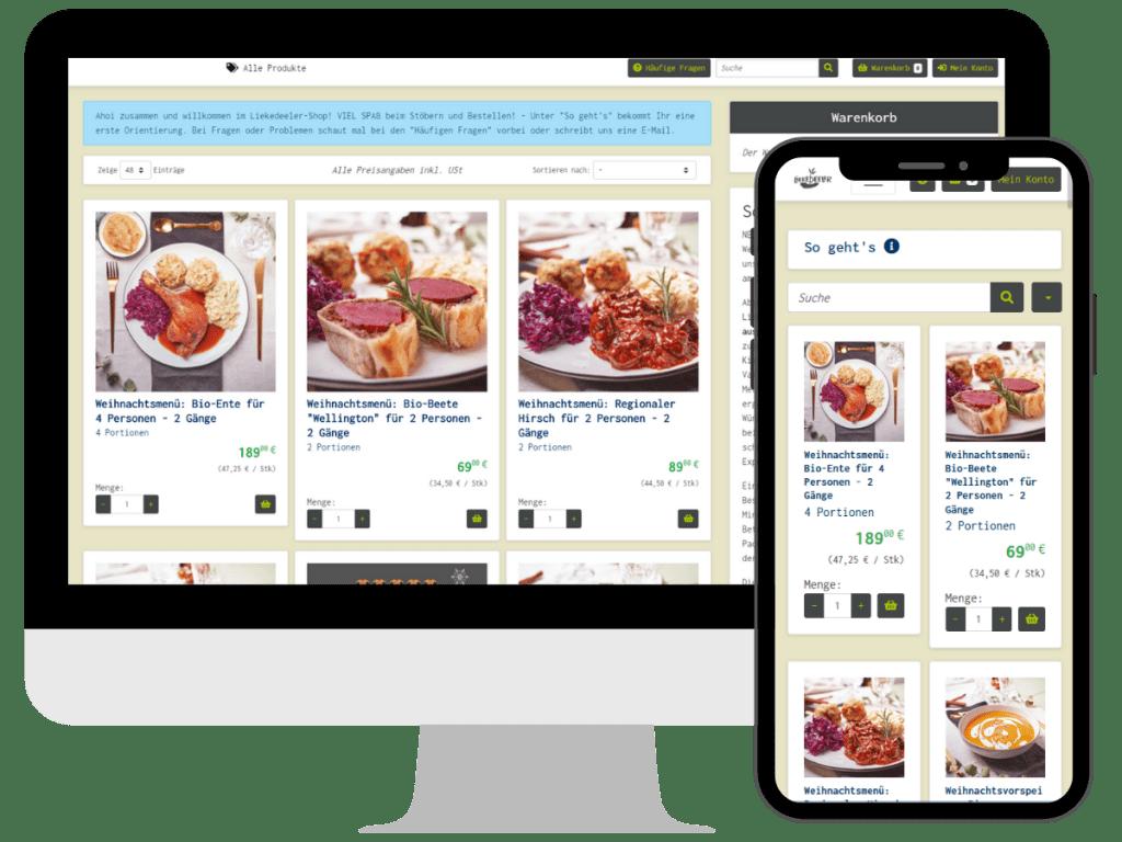 FrachtPilot Software Direktvermarktung Funktion Modul Web-Shop Online-Shop Webshop